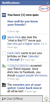 Facebook See All Notifications