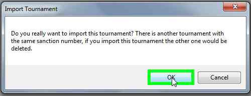 Wizard's Event Reporter import tournament warning.